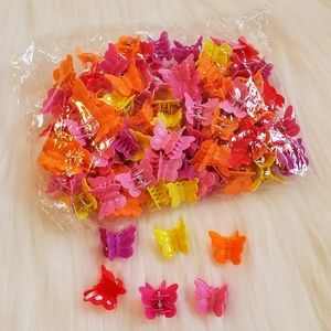 Butterfly clips assorted colors